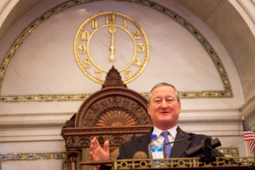Jim Kenney ended a 23-year run on Philadelphia City Council after Thursday's meeting. (Brad Larrison/for NewsWorks)