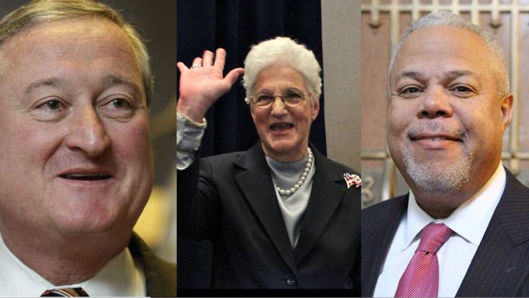 At this early stage in the mayoral campaign, Jim Kenney, Lynne Abraham and Tony Williams have all pointed out endorsements received. (NewsWorks, file art)