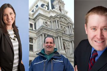 Melissa Murray Bailey, Elmer Money and Sean Clark are scheduled to meet with GOP ward leaders tonight. (NewsWorks, file art)