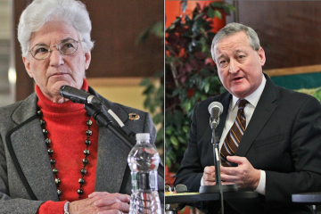 Philadelphia mayoral candidates Lynne Abraham and Jim Kenney are in the midst of a pension-related dust-up. (Kimberly Paynter/WHYY)