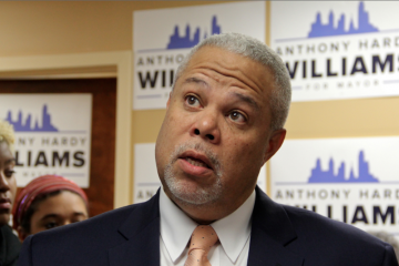 Anthony Williams took objection to being branded 'the charter-school advocate' when others in the race support them as well. (Emma Lee/WHYY)