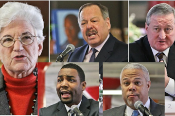 Five of the six Democratic mayoral candidates responded to the Chamber of Commerce questionnaire. (Kimberly Paynter/WHYY)