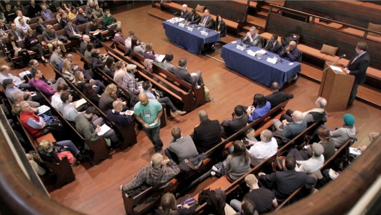 The mayoral candidates are increasingly meeting up at a variety of forums throughout the city. (Stephanie Aaronson/via The Next Mayor partnership)