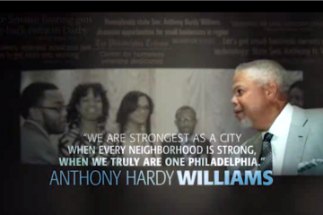 A scene from the ad brought to you by American Cities, the independent expenditure group backing state Sen. Anthony Williams in the Philadelphia mayor's race. (Image via YouTube)