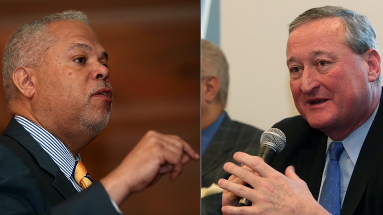 A poll conducted by supporters of Democratic mayoral candidate Jim Kenney showed him in a statistical dead heat with Tony Williams. (Stephanie Aaronson/via The Next Mayor partnership)