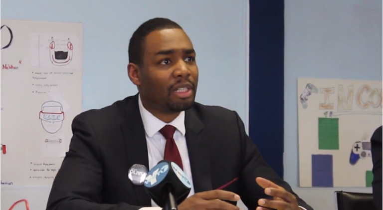 A screenshot from online ads that mayoral candidate Doug Oliver has released. (Image via YouTube)