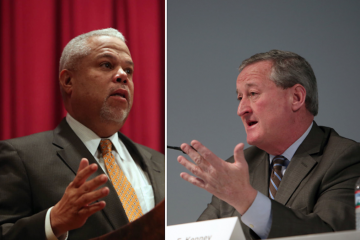 Anthony Hardy Williams and Jim Kenney both say they support a council push to shine light on the sources of super PAC campaign money. (Stephanie Aaronson/via The Next Mayor partnership)