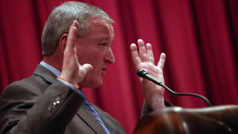 A pair of polls show Jim Kenney leading a mayoral pack that's questioning his progressive bona fides. (Stephanie Aaronson/via The Next Mayor partnership)
