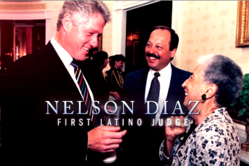 A screengrab from Nelson Diaz's television ad. (Via YouTube)