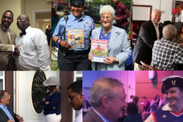 The weekend in mayoral campaigning, as told by images on the candidates' Twitter pages. (Via Twitter)