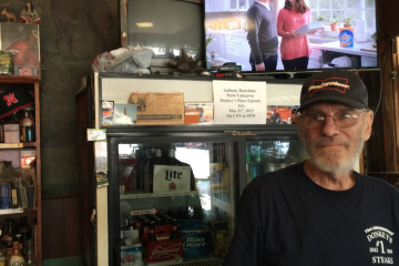 Robert Lucas runs Donkey's Place in Camden NJ, which his prizefighting father opened in the 1940s. (Brian Hickey/WHYY)