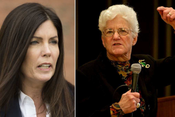 With Kathleen Kane facing criminal charges, former Philadelphia district attorney Lynne Abraham has reportedly offered to fill in as state attorney general. (NewsWorks, file art)