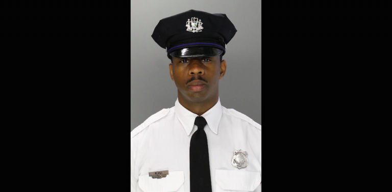 Philadelphia Police Sgt. Rafael Ali was driving on Henry Avenue in Roxborough shortly after 11:30 p.m. Saturday when he lost control of his car at a curve. (Courtesy of Philadelphia Police)