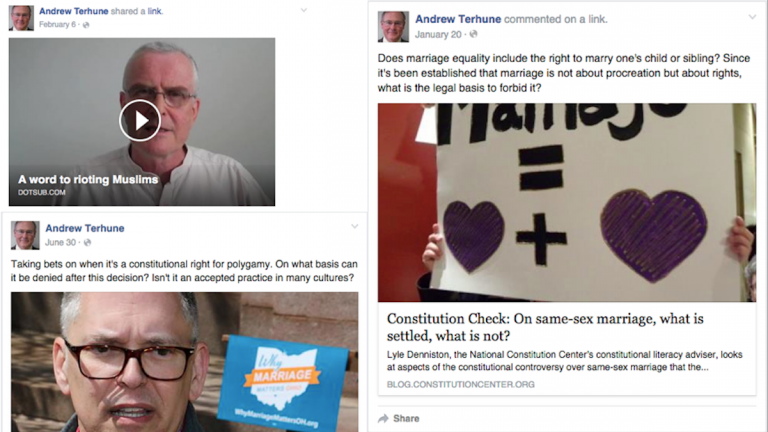 Facebook posts from a Melissa Murray Bailey donor caught the negative attention of some activist groups in Philadelphia. (Images via Facebook)