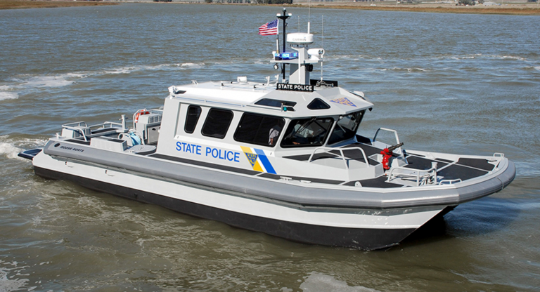 A New Jersey State Police boat.