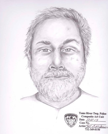 A composite sketch of the deceased man by the Toms River Police Department.