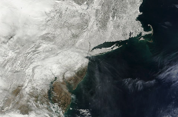 A satellite image from the MODIS instrument taken on February 20, 2014. (Image via the National Weather Service)