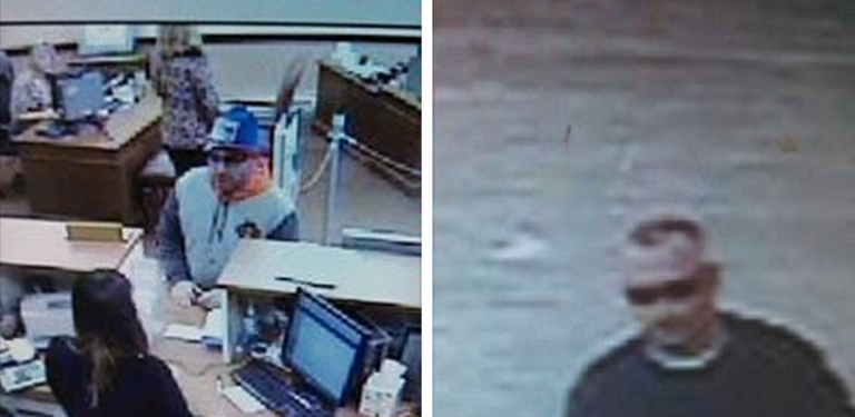 Surveillance images of the Hudson City Savings Bank bank robbery suspect taken on March 6, 2014. (Images courtesy of the Brick Township Police Department)