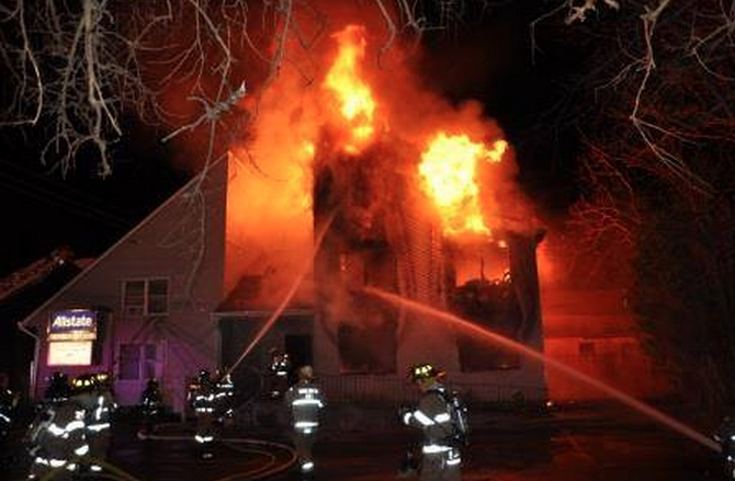 An early morning fire damaged the Allstate Insurance building in Toms River. (Photo: Toms River Police Department)