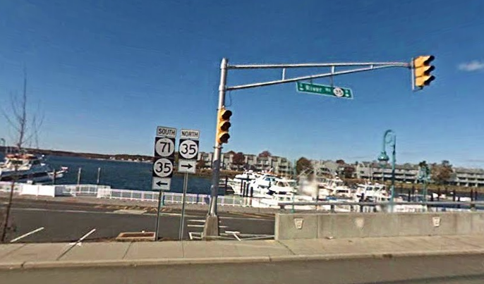 The area of the early Sunday morning crash that killed Tiffany Soto, 26, of Howell. (Image: Google Street View)