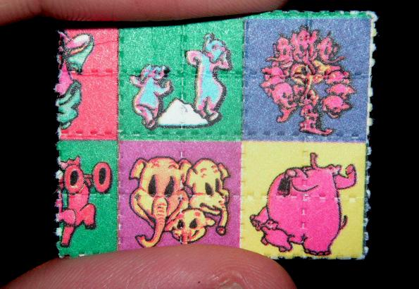 LSD blotter paper. (Image: Wikipedia.org)