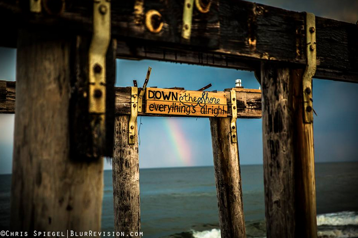 A rainbow as seen from Ocean Grove, NJ on May 19, 2014. (Image: Blur Revision Media Design)