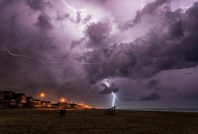A thunderstorm over Manasquan last Friday evening by Tom Lozinski Photography.