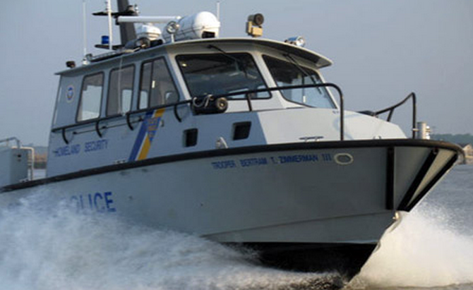 A New Jersey State Police boat. (Image: New Jersey State Police)