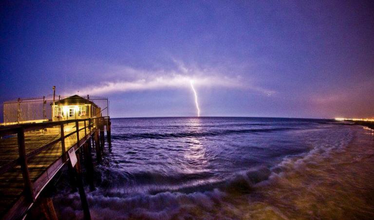 A lightning strike over the ocean as seen from Ocean Grove. (Photo: Chris Spiegel/Blur Revision Media Design)