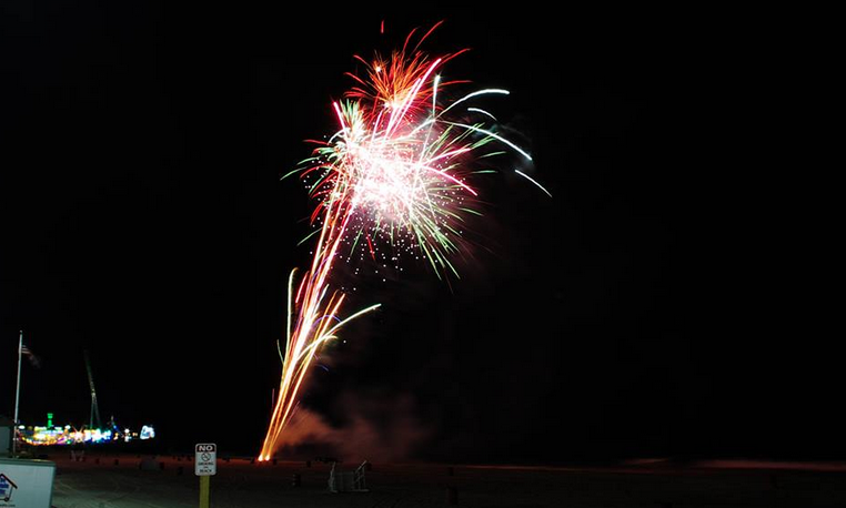 A fireworks display in Seaside Heights in July 2014. (Photo: JSHN contributor  Gregory Hnath)