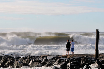 Monmouth University scientists and students are sampling water at some New Jersey beaches before and after at least 10 storms over a year. (Courtesy of Robert Siliato)