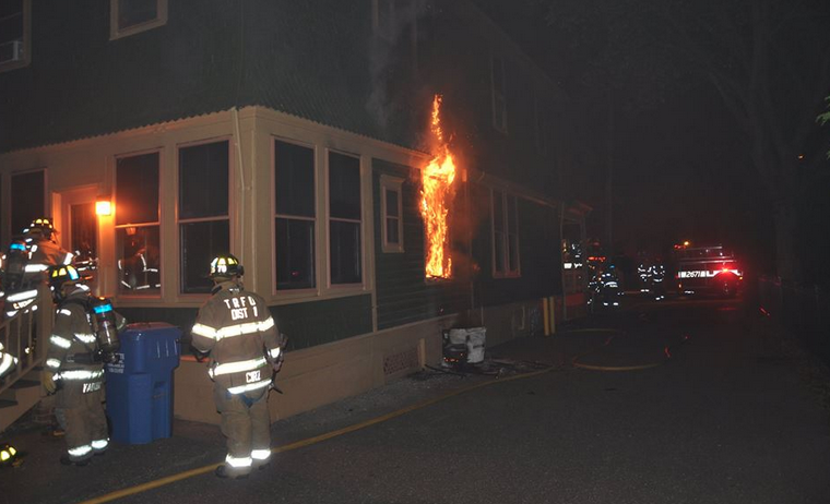 Firefighters extinguished a structure fire at 121 Washington Street in downtown Toms River early Friday morning. (Photo: Toms River Police Department Ptl. William Hutton)