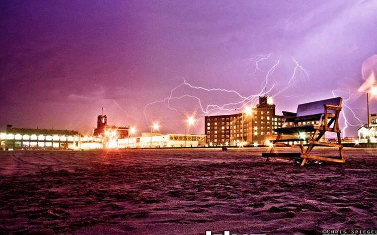 Lighting over Asbury Park by Blur Revision Media Design.