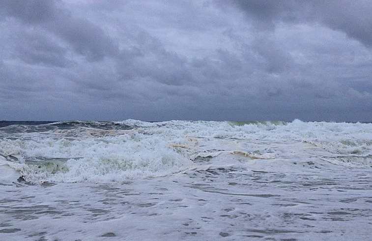 A rough sea off South Seaside Park on Sept. 9. (Photo: Justin Auciello/JSHN)