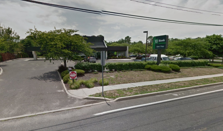 Police are investigating a bank robbery at TD Bank in Brick Sunday afternoon. (Image: Google Maps)