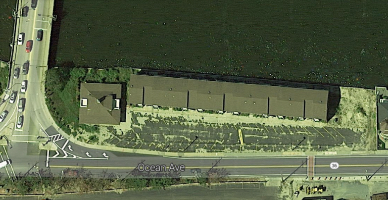 The Anchorage Apartments site on Route 36 in Sea Bright. (Image: Google Maps)