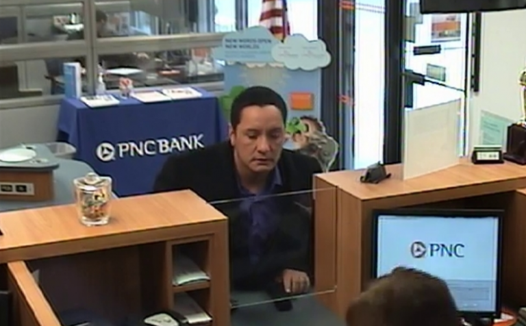 Police say this man robbed the PNC Bank at 9 Wrangle Brook Drive in Toms River Thursday morning. (Photo courtesy of the Toms River Police Department)