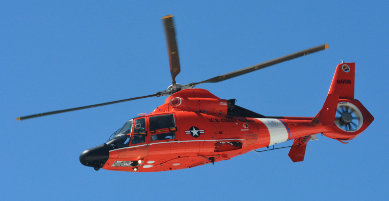 A U.S. Coast Guard MH-65 Dolphin helicopter. (Image: Wikipedia.org)