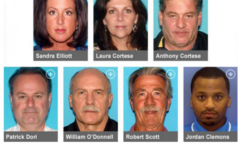 The eight most recently charged with Sandy relief fraud. (Image: New Jersey Office of the Attorney General)