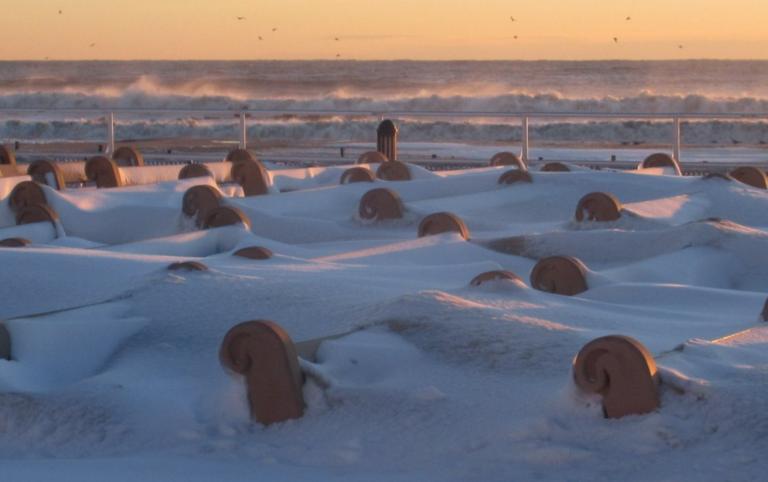 Bradley Beach this morning by JSHN contributor Bud McCormick (@MrBud2190 via Twitter).