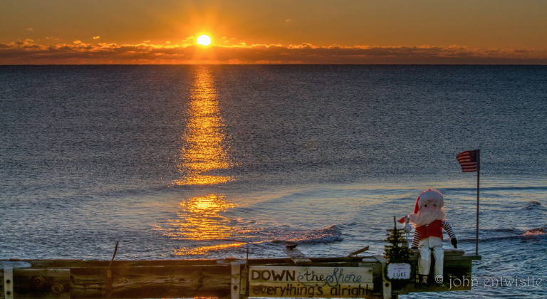 A late January 2016 sunrise in Ocean Grove by John Entwistle Photography.