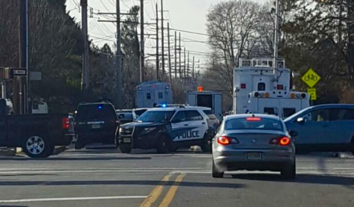 Police on the scene of a standoff this afternoon in Point Pleasant Beach. (Photo: JSHN contributor Andrew Michael)