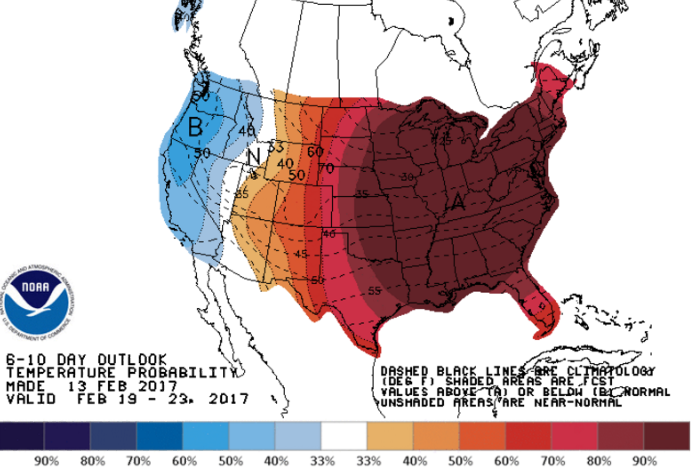 NWS Climate Prediction Center image.
