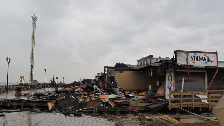 The Seaside Park devastation. (Phil Gregory/for NewsWorks)