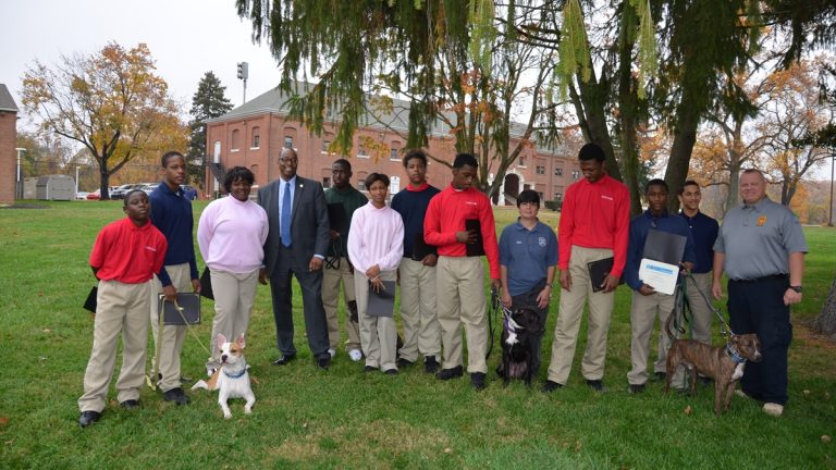 Second graduating class from Second Chance Canine Program(Photo courtesy of Delaware Div. of Youth Rehabilitative Services)