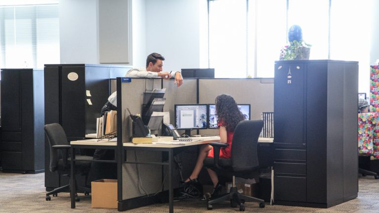 Power Home Remodeling Group is known as the best workplace in America. Many employees say they work with their friends. (Kimberly Paynter/WHYY)
