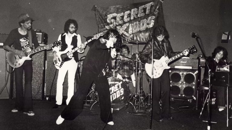 Kenn Kweder and his band, the Secret Kidds. (Courtesy of John Hutelmyer)