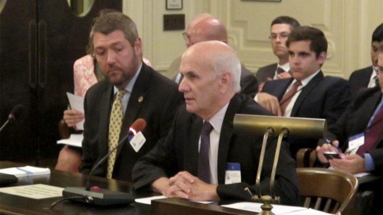 Lee Seglem testifies at Senate Environment Committee hearing (Phil Gregory / WHYY)