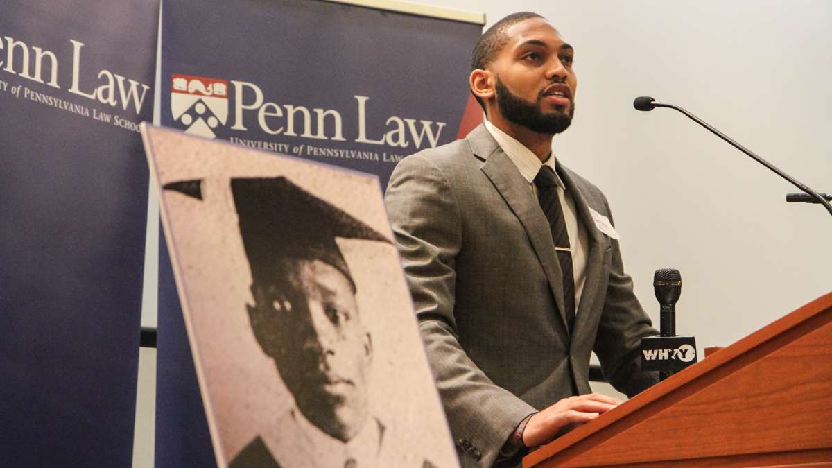 Allante Keels is the president of the Black Law Students Association at Penn. (Kimberly Paynter/WHYY)
