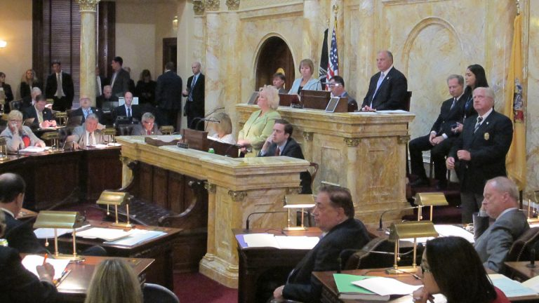 New Jersey Senate President Steve Sweeney pulled the override bill Thursday before the vote was official. (Phil Gregory/WHYY)